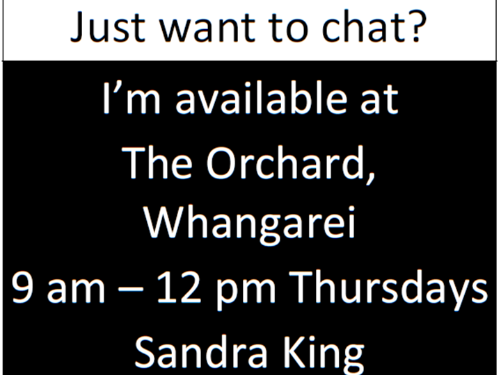 Free Drop-in Sessions with Sandra King